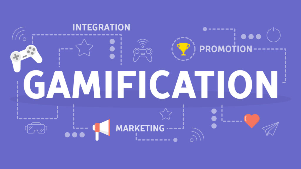 Gamification concept. Integrating game